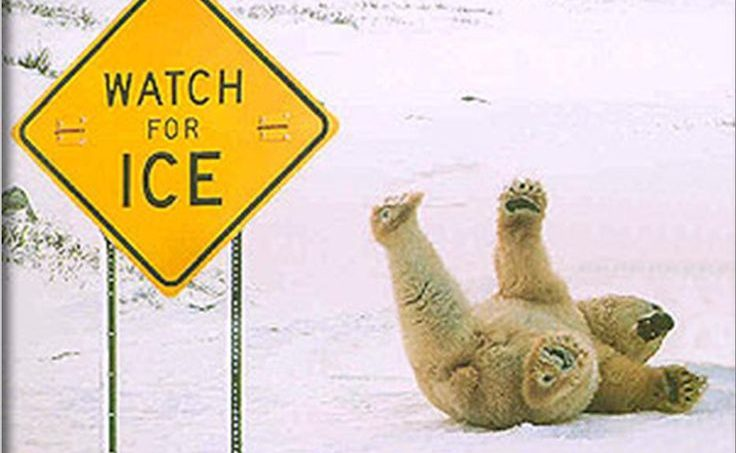 Watch out for the ice